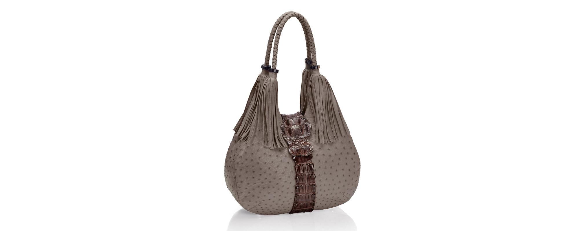 Straußenleder Handtasche Fancy Bag