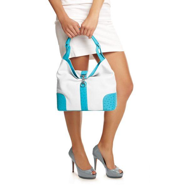 Straußenleder Tasche