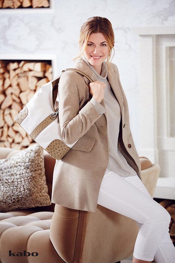 Nina Bott: Kabo Straußenleder Handtaschen