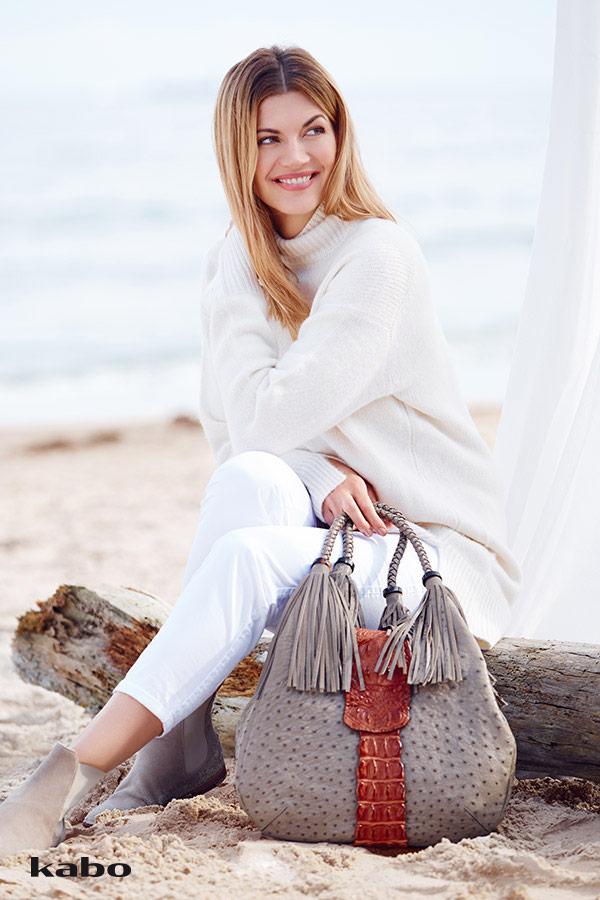 Nina Bott für Kabo Handtaschen und Börsen